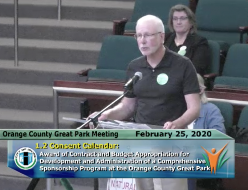 Coalition Shares Ideas on Sponsorship with Great Park Board of Directors